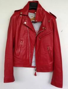 Damenjacke vorher Rot